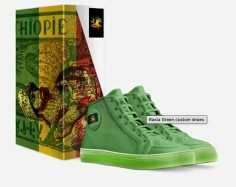 Rasta Green sneakers Italian leather Rastaseed.com