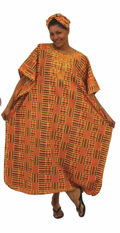 African Rasta Kente Kaftan