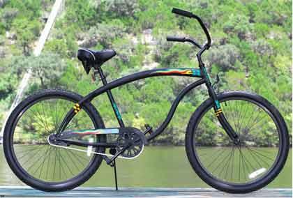 Rasta Blackout Cruiser Bike