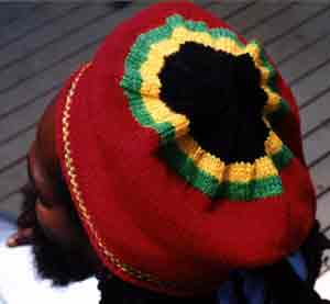 Rasta Red Beret Jamaican colors