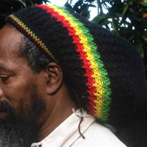 rasta Dreadlock wool tam red gold green black
