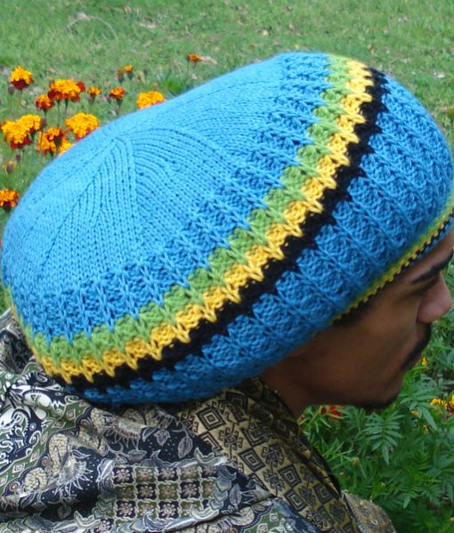 Rastaman Jamaica Blue Wool Tam