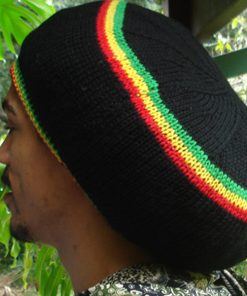 rasta dreadlock wool tam black
