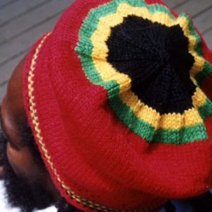 rasta red wool beret