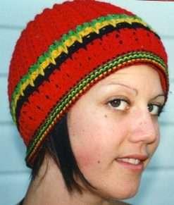 rasta red beanie at Rastaseed Rastafarian Reggae and jamaican merchandise and clothing