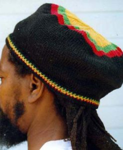 Rasta Beret Black Wool