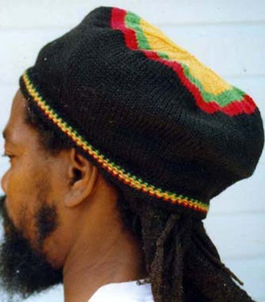 Rasta Beret Black Wool