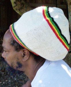 rasta cream wool tam