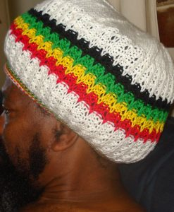 rastaman cream dreadlock tam