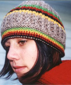 rasta hat natural wool