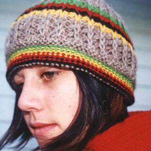 rasta hat natural wool