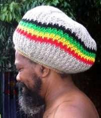 Jah Blue rasta tam wool handmade