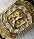 rasta 18k plated gold ring rastaseed