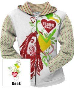 Bob Marley - Womens Love Juniors Zip Hoodie