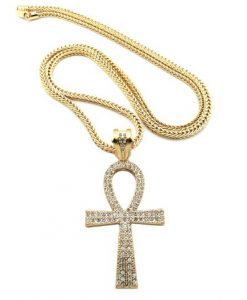 Iced Out Ankh Cross Pendant Rasta seed Online ShopHip Hop jewellery