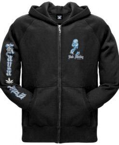 Bob Marley - Mens Kaya Now Black Zip Hoodie