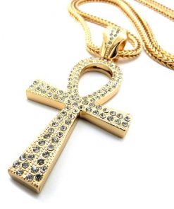 Iced Out Ankh Cross Pendant Rasta Seed Online Rasta Merchandise