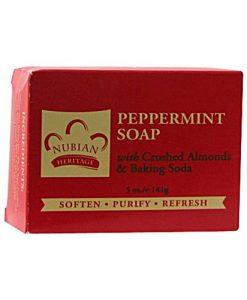 Nubian Heritage Soap Bar, Peppermint and Aloe, 5 Ounce
