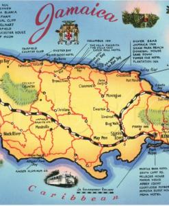 Jamaican Map Poster