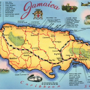 Jamaican Map Poster