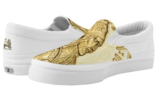 Haile Selassie Gold Loafers at Rastaseed and Rastagearshop