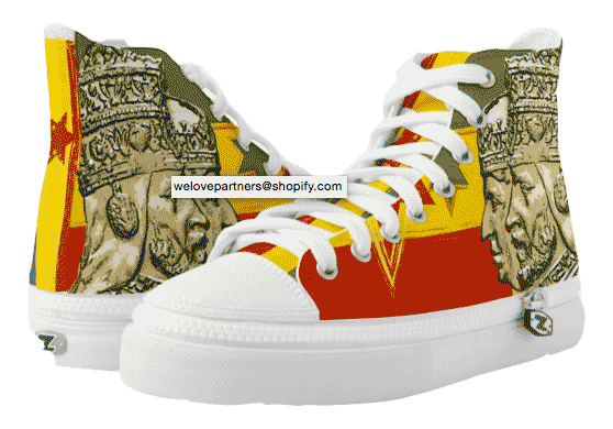 Haile Selassie Empress Menen Hi Top Shoes at Rasta Seed
