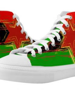 Marcus Garvey Rasta Shoe Hi Top Sneakers