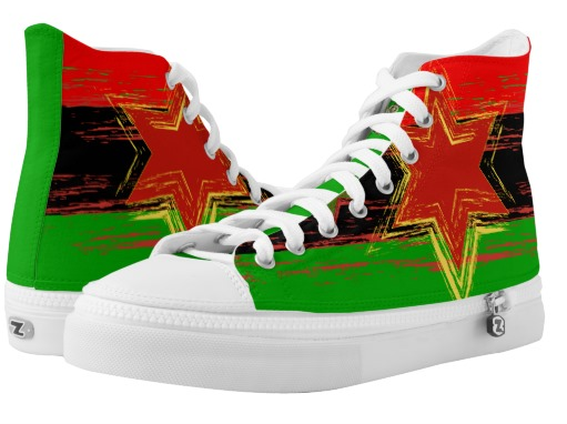 Marcus Garvey Rasta Shoe Hi Top Sneakers