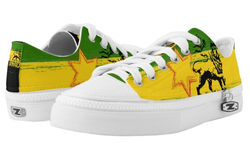rasta Jamaican lion lace up sneakers low top at rastaseed and rasta gear shop
