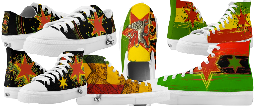 Rasta shoes rastaseed rasta colors lion of judah