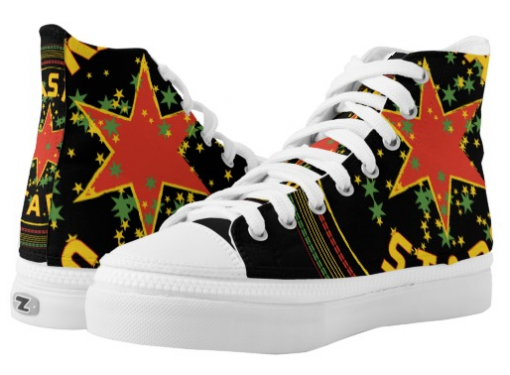 Rasta Stars Shoes Hi Top Sneakers at Rasta Seed and Rasta Gear Shop