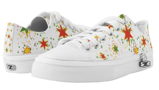 rasta shoes white stars lace up sneakers low top at rastaseed and rasta gear shop