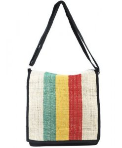 Hemp rasta messenger/crossbody purse-Natural-One size