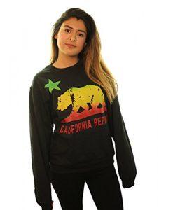 California Republic Rasta Bear Flag Asst Colors Crewneck Sweatshirt