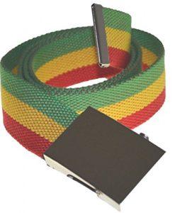 City Nylon Military Style Belt Rasta Red Yellow Green