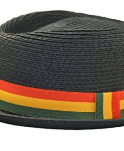 Upturn Diamond Crown Pork Pie Fedora Paper Straw Rasta