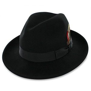 Belfry Bogart – Men's 100% Wool Dress Fedora In 4 Sizes and 2 Colors