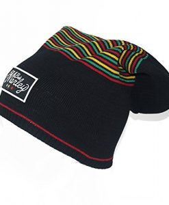 BOB MARLEY Center Rasta Tam Hat Beanie Black