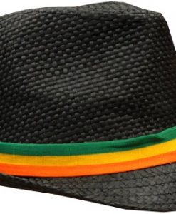 Mesh Fedora with Rasta Band #11