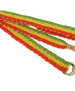 Organic Rasta Reggae Hemp Belt-one Size