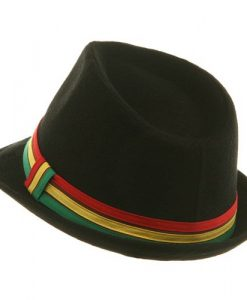 Rasta Fedora Hat - Black Wool W19S46D