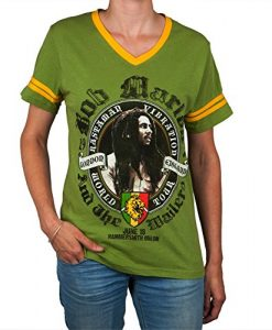 Bob Marley - London V-Neck Juniors Soccer T-Shirt