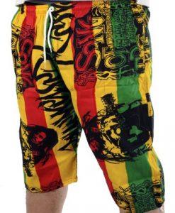 rasta4real LION OF JUDAH Jamaica RASTA BOARD SHORTS (R4R13BS006)