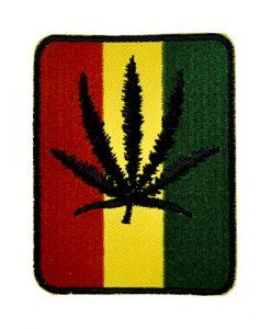 Rastafarian Pot Leaf Patch Iron on Applique Alternative Clothing Marijuana