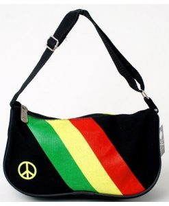 Rasta Suspenders, Bowtie & Peace Sign Bag