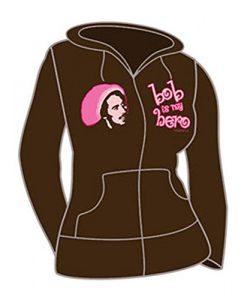 Bob Marley Hero Girls Jr Hooded Sweatshirt Brown