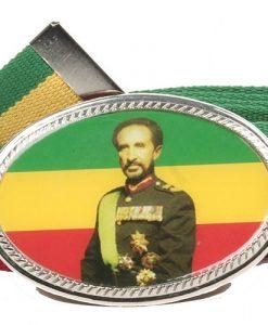 Rasta Big Buckle Belts-King Selassie