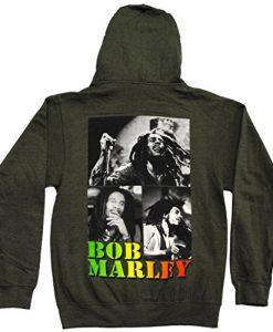 Bob Marley Collage Rasta Adult Zip Up Hoodie