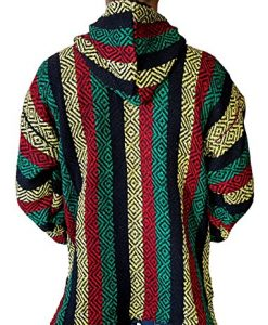 Classic Mexican Baja Hoodie Pullover Poncho