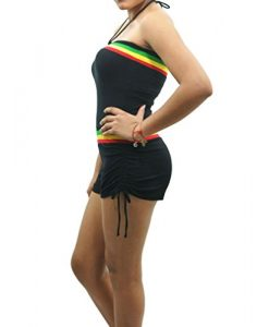 POPLife Rasta Empress Reggae Jamaica Cotton Strapless Jumpsuit Romper Size S HRA8002
